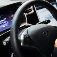 Inside a Tesla car
