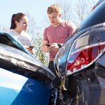 Two teens in a car wreck