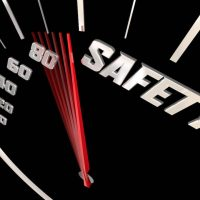 Safety Speedometer Measure Safe Driving Be Careful 3d Illustration